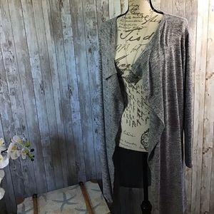 Simply Vera Verawang Gray Cardigan Size Large